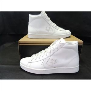 Converse Pro Leather 76 Mid All Star Sneakers Whte